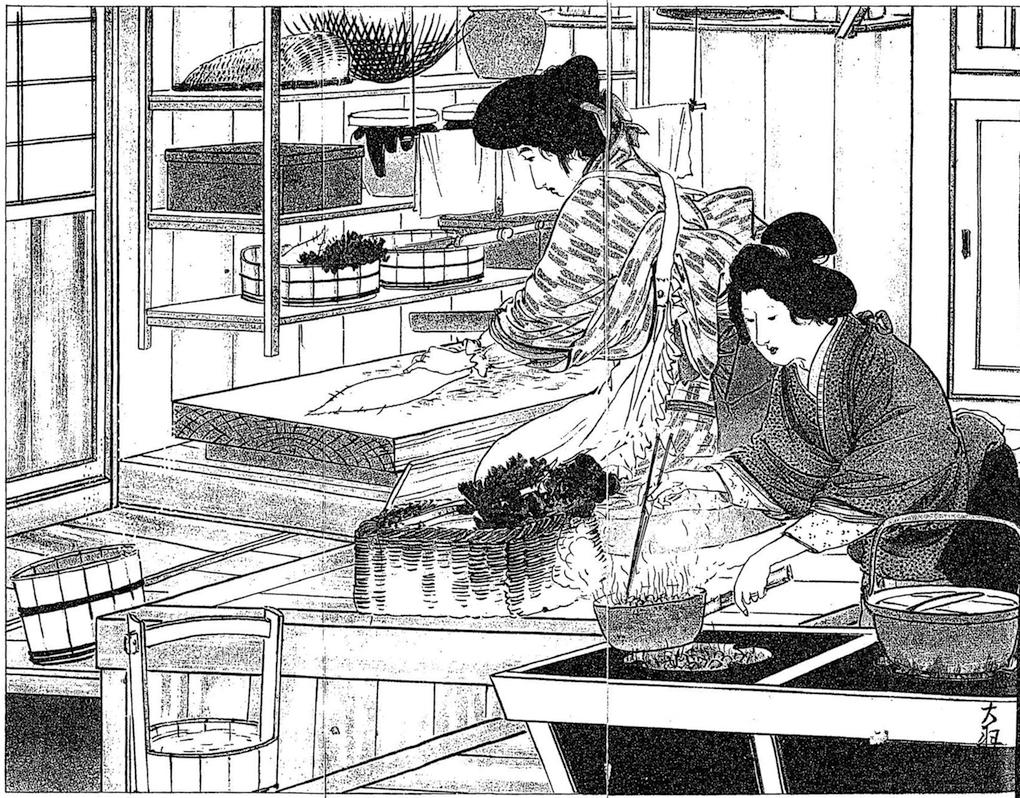 旧来の蹲踞式台所