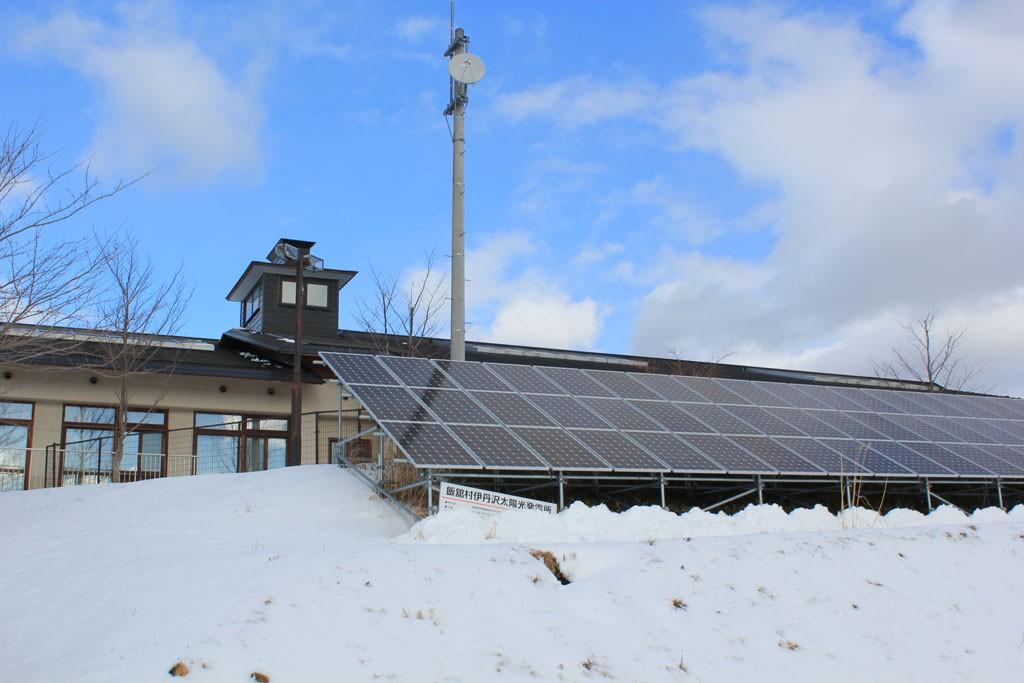 飯舘村にある太陽光発電所